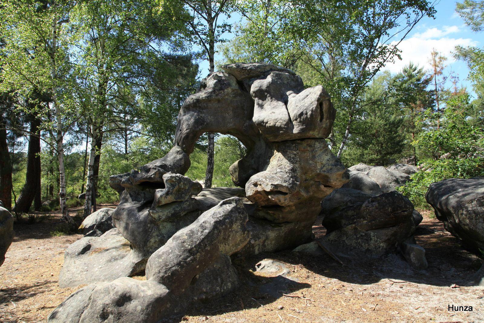 L'Eléphant (les Sables du Cul de Chien dans le massif des Trois Pignons)