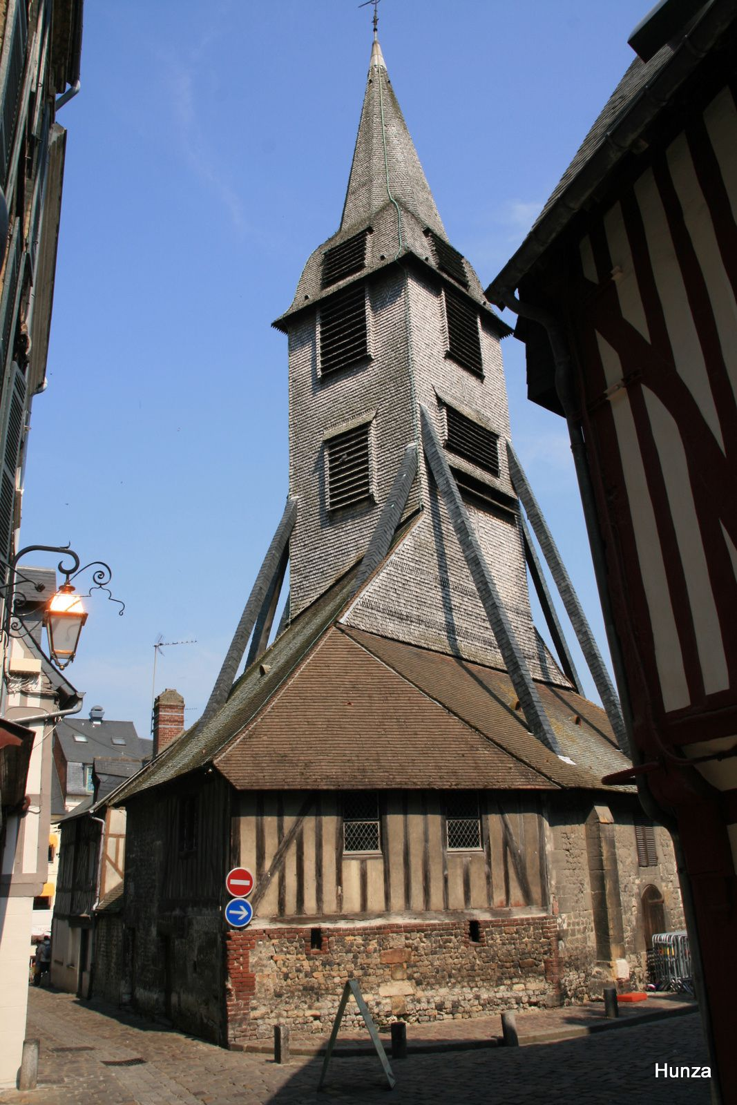 Honfleur, clocher de l'église Sainte-Catherine