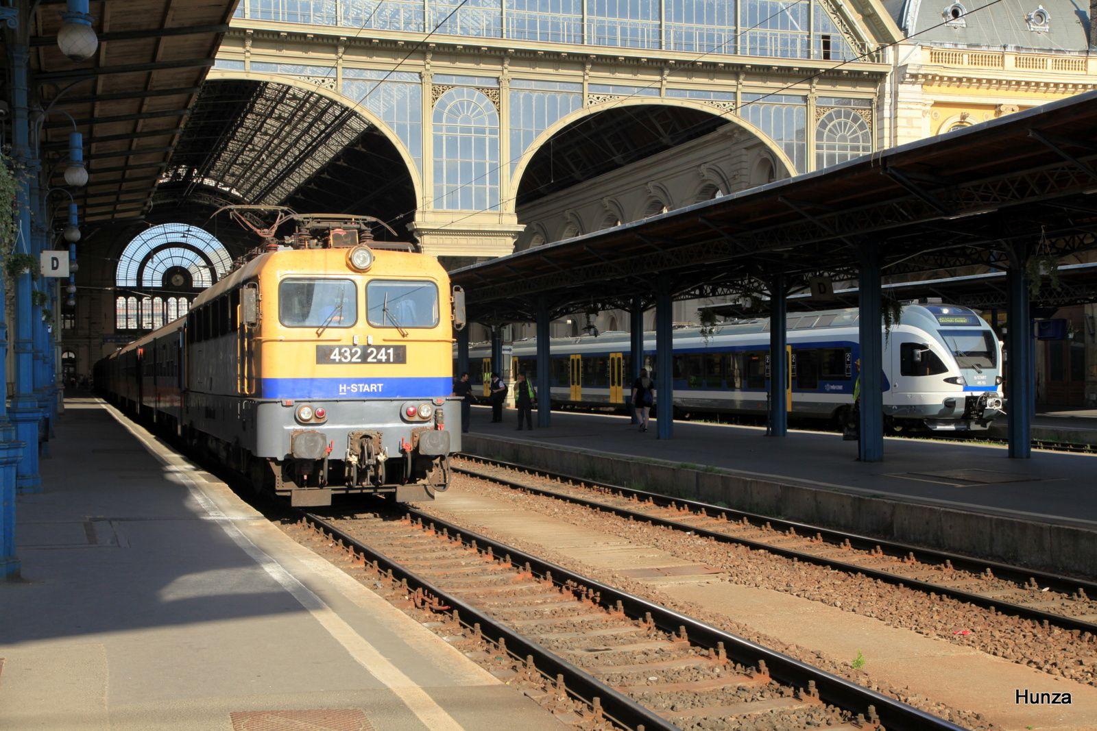 Budapest Keleti : locomotive électrique n°432 241 (9 juillet 2018)