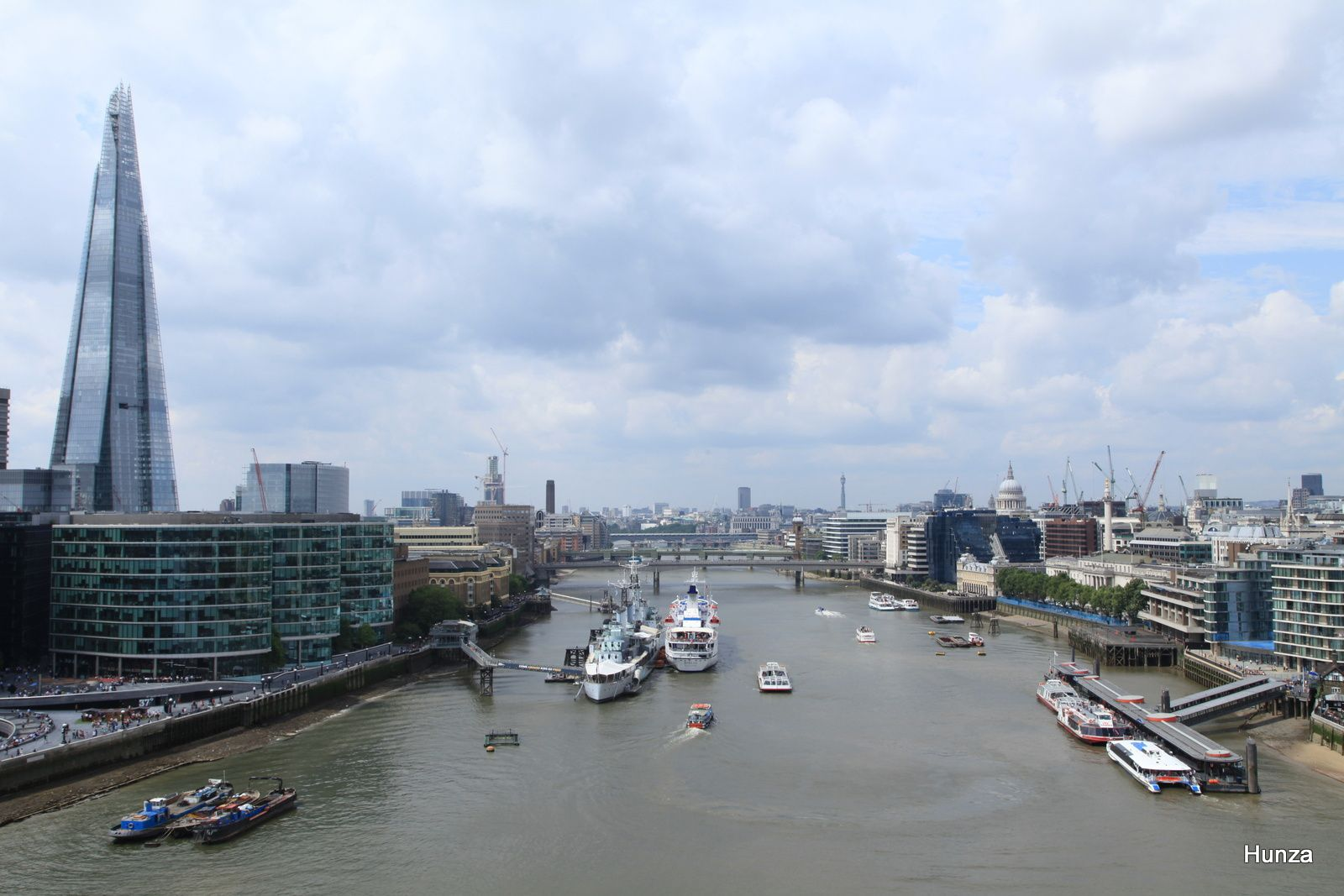 Panorama en direction de l'ouest de Londres
