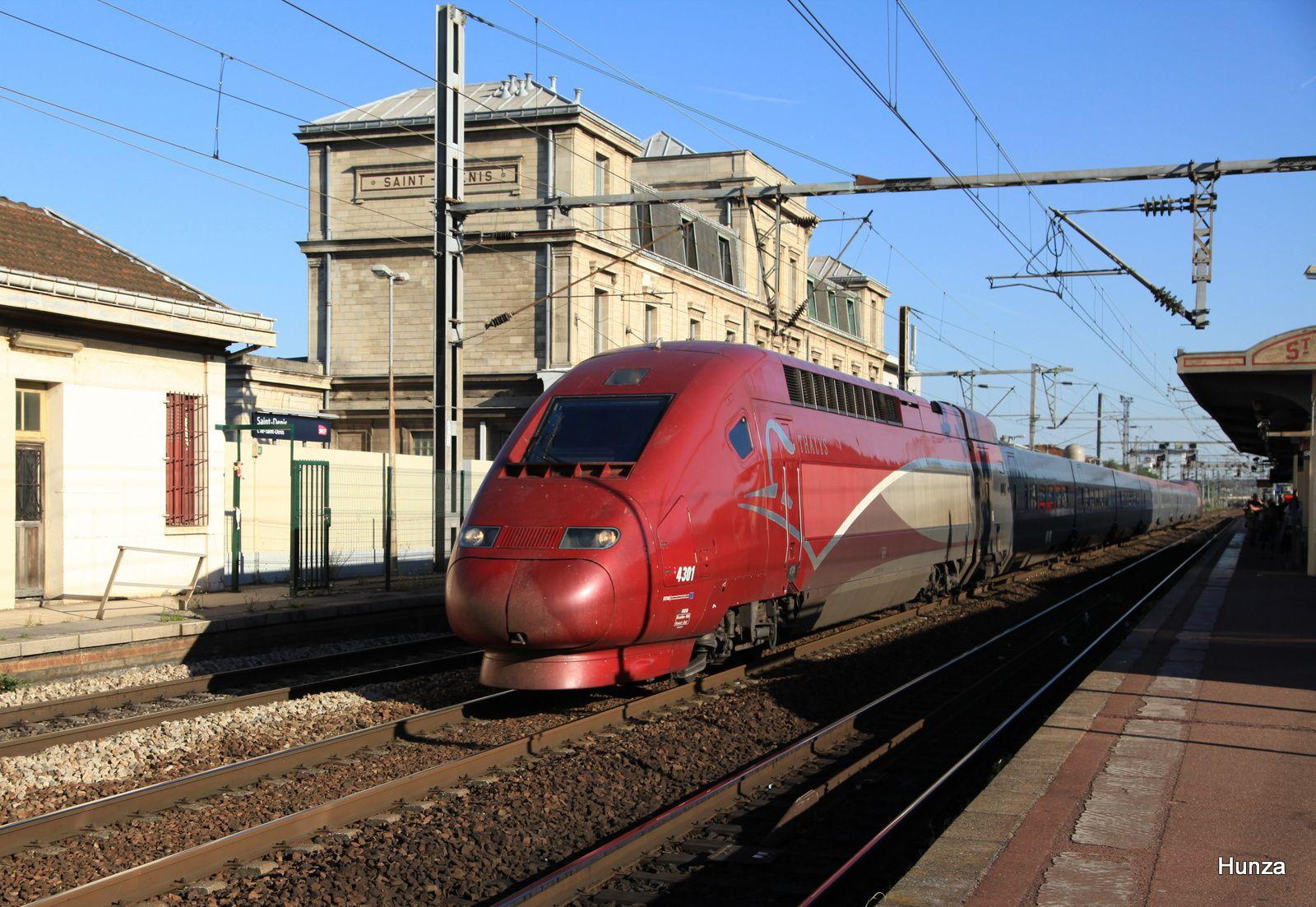 TGV PBKA à Saint-Denis (7 juillet 2015) - rame 4301 de la SNCB