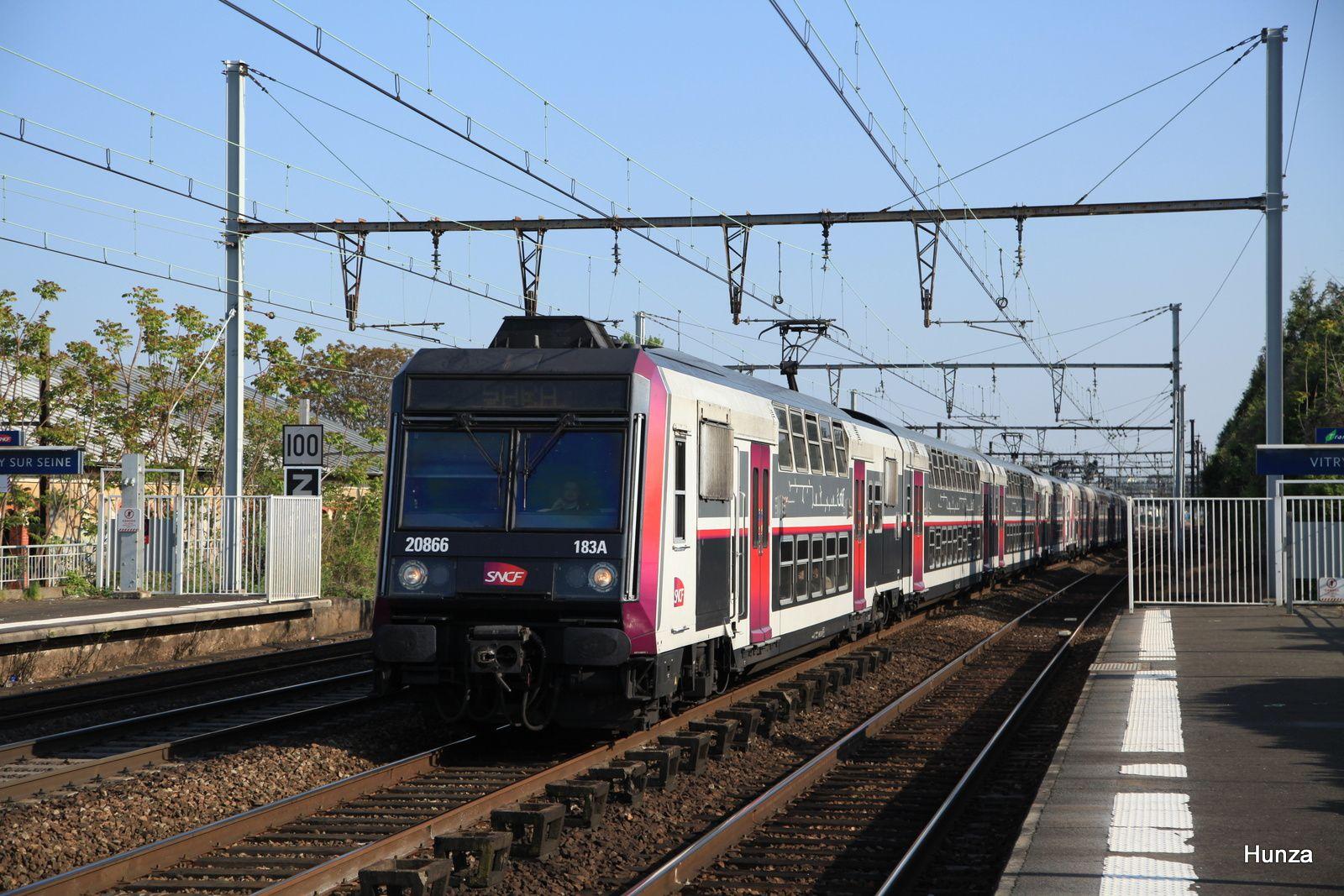 Z 20866 en tête d'un train SARA à Vitry sur Seine(21 avril 2017)