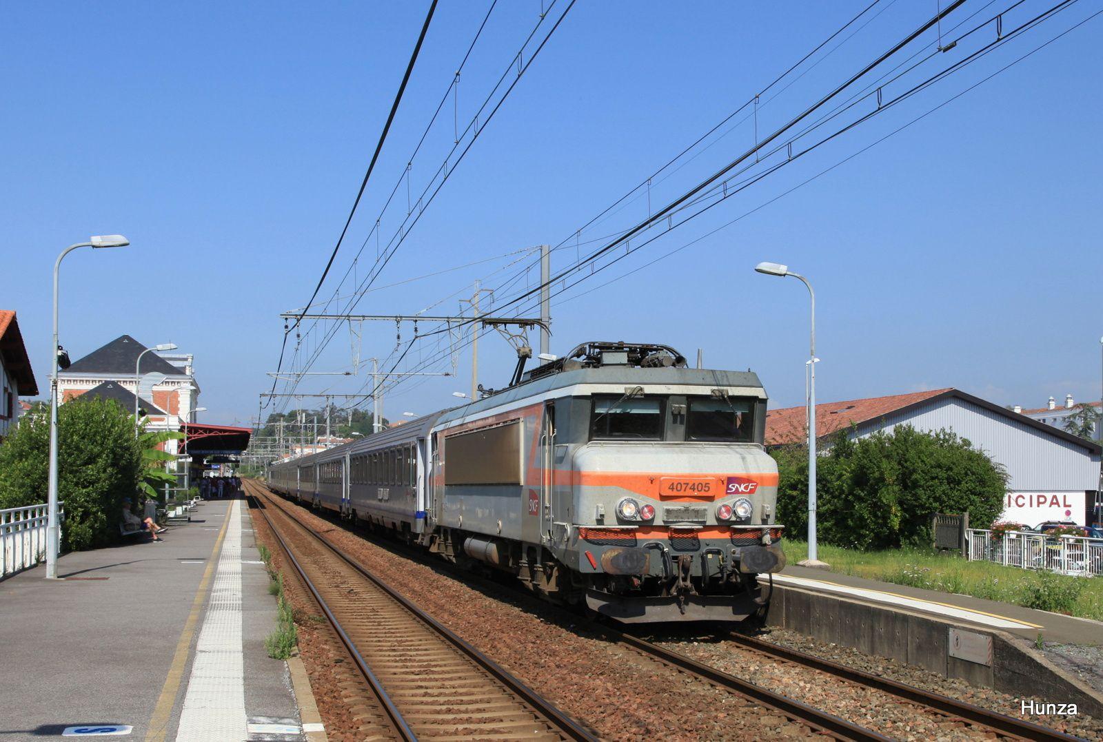 BB 407405 à Saint-Jean de Luz (23 juillet 2014)