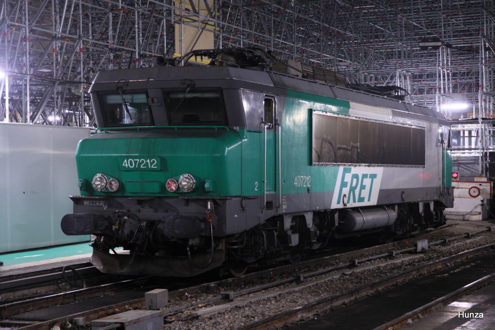 Gare d'Austerlitz : BB 407212 (4 novembre 2018)