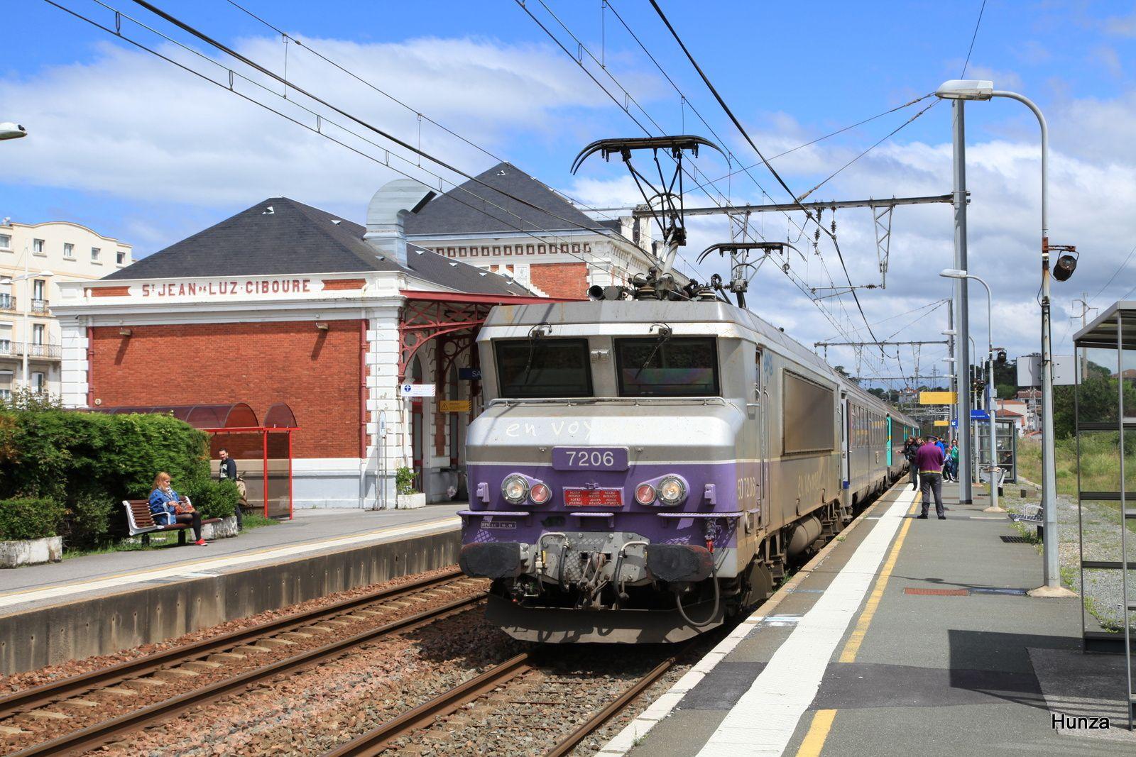 BB 7206 livrée en voyage à Saint-Jean de Luz (30 avril 2013)