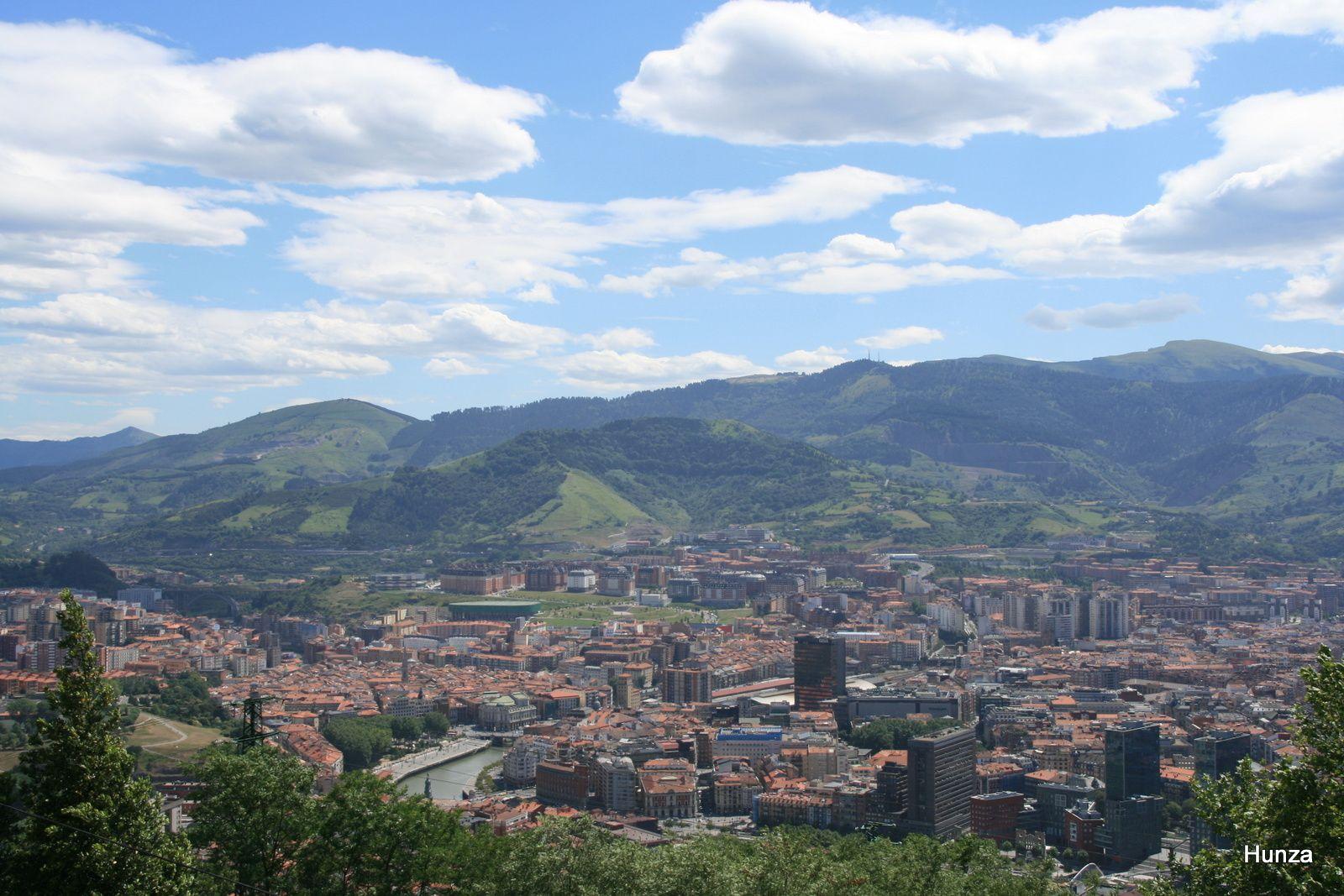 Panorama sur Bilbao depuis le monte Arxanda