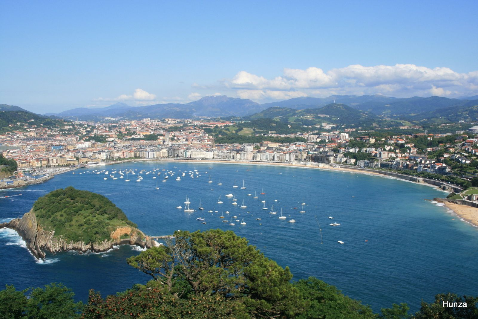 La baie de La Concha depuis le Monte Igueldo