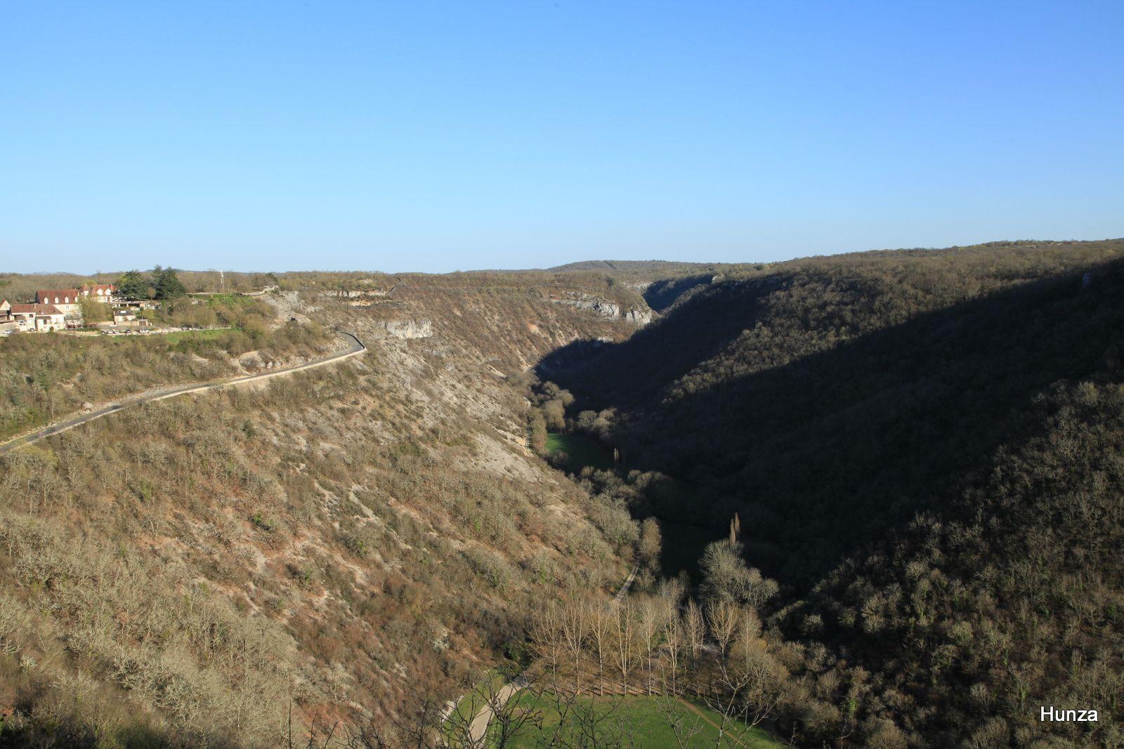 Les gorges de l'Alzou depuis le haut de Rocamadour