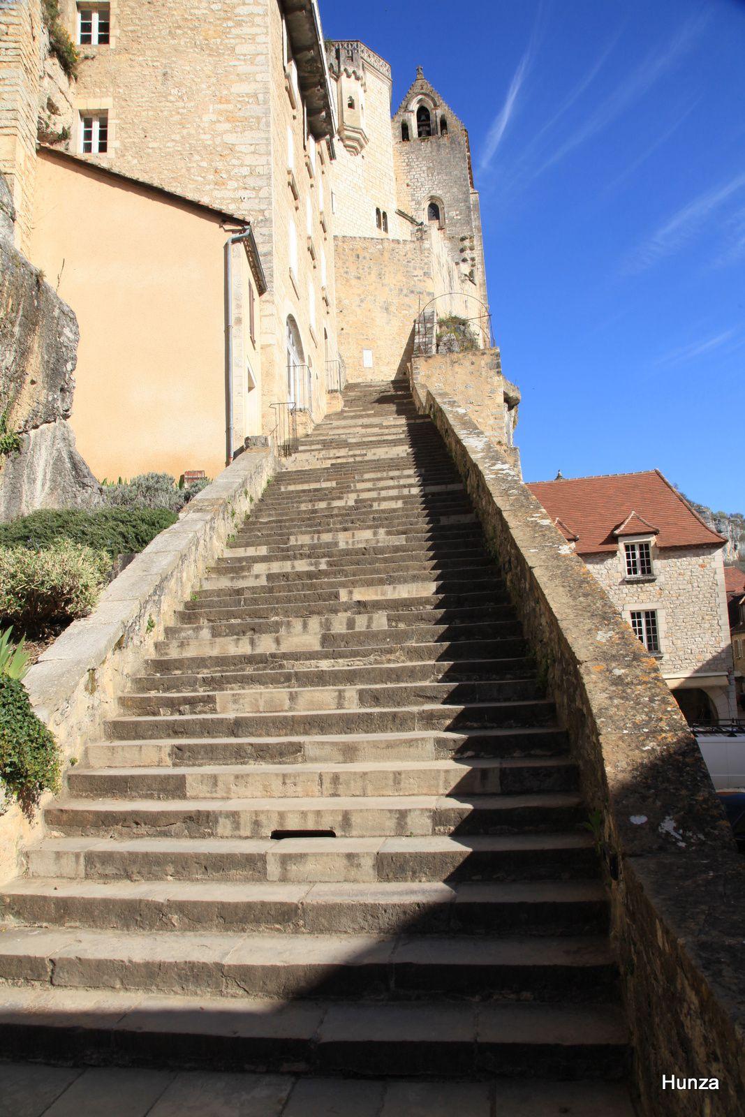 Rocamadour, grand escalier des pèlerins