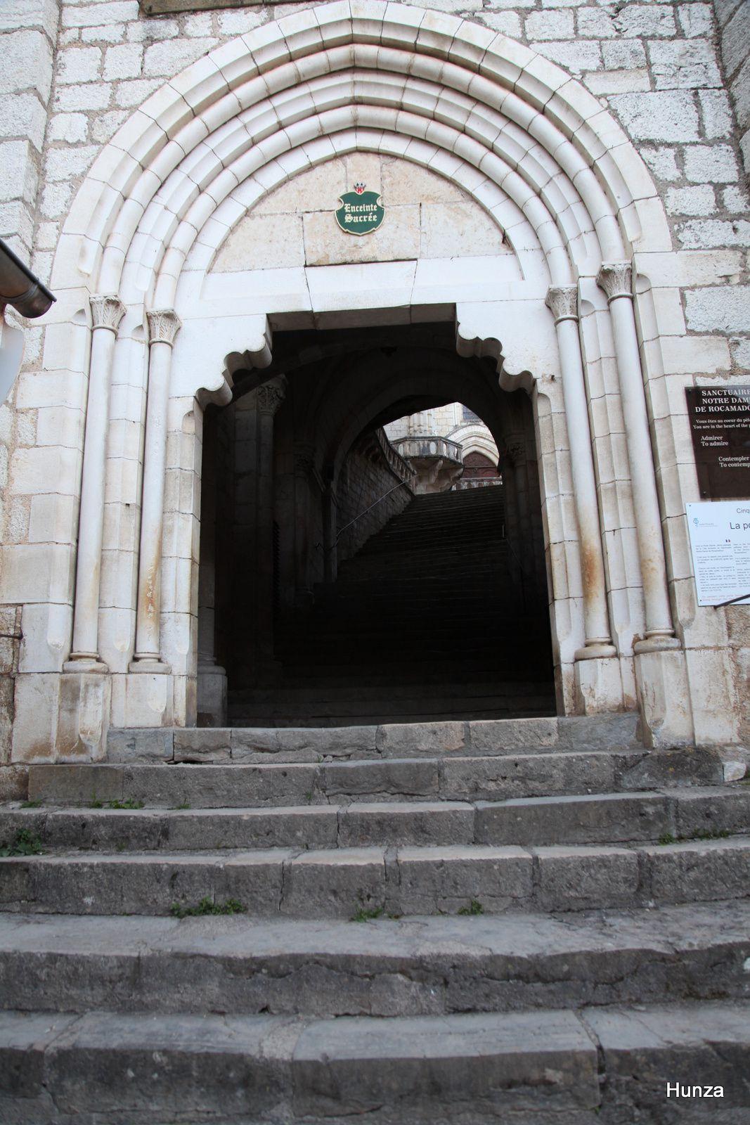 Rocamadour, la porte sainte (entrée du sanctuaire)