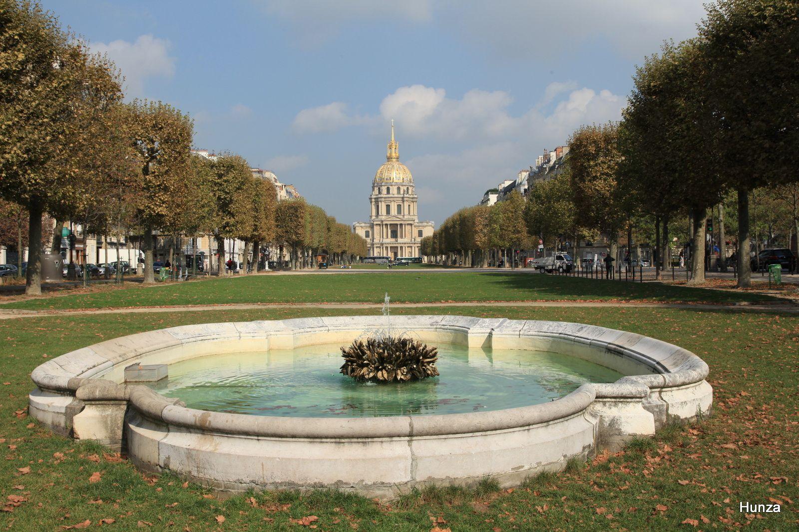 Fontaines, bassins et jets d'eau du 7ème arrondissement de Paris