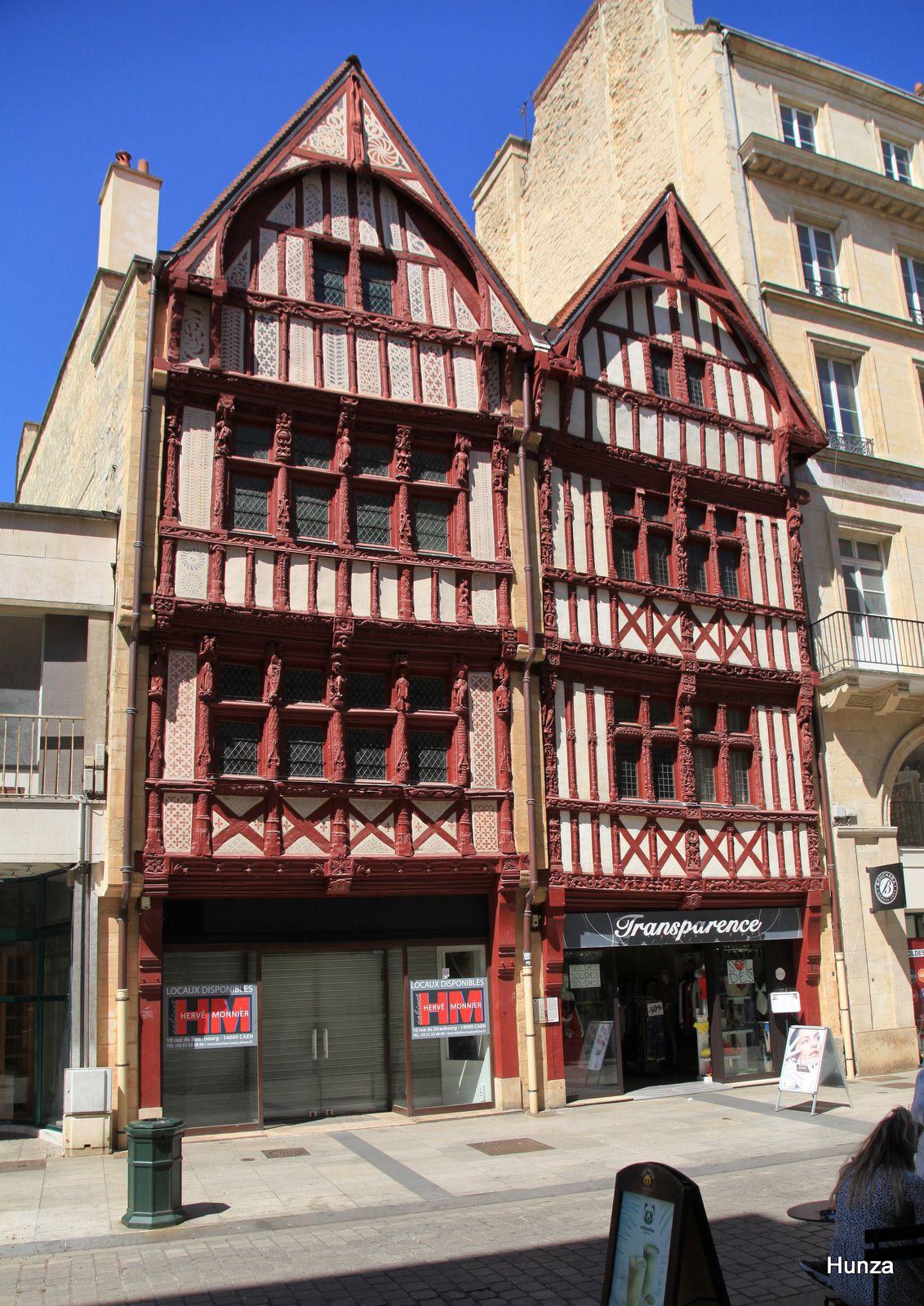 Caen, maisons à pans de bois rue Saint-Pierre