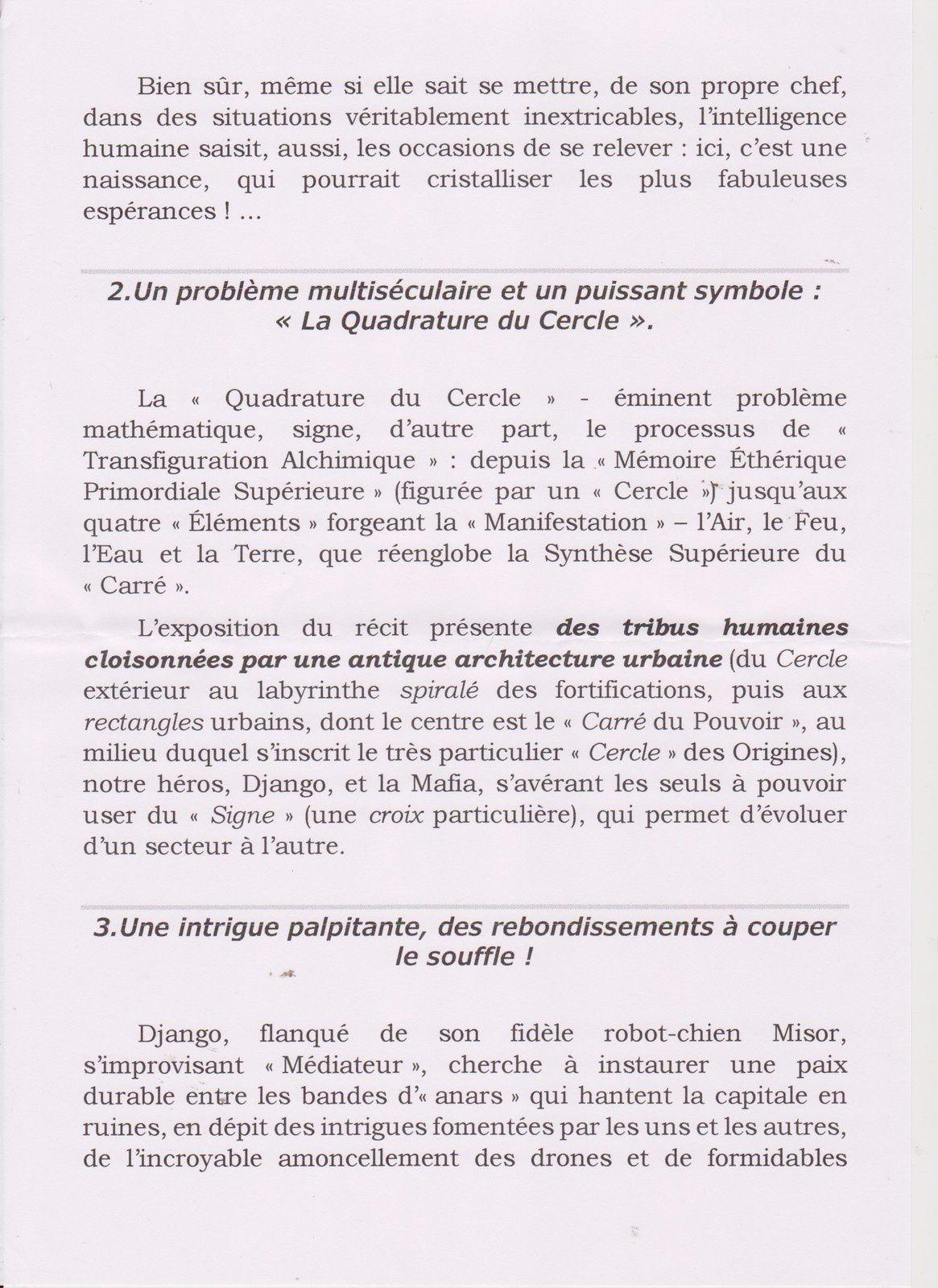 A lire absolument : LA QUADRATURE DU CERCLE de Colette MOUREY