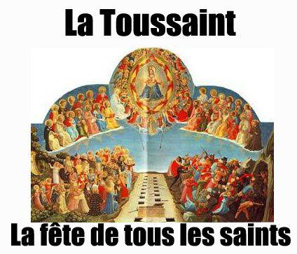 1 )Fra Angelico : La fête de tous les saints. 2 ) La Toussaint au cimetière de Pointe-à-Pitre.