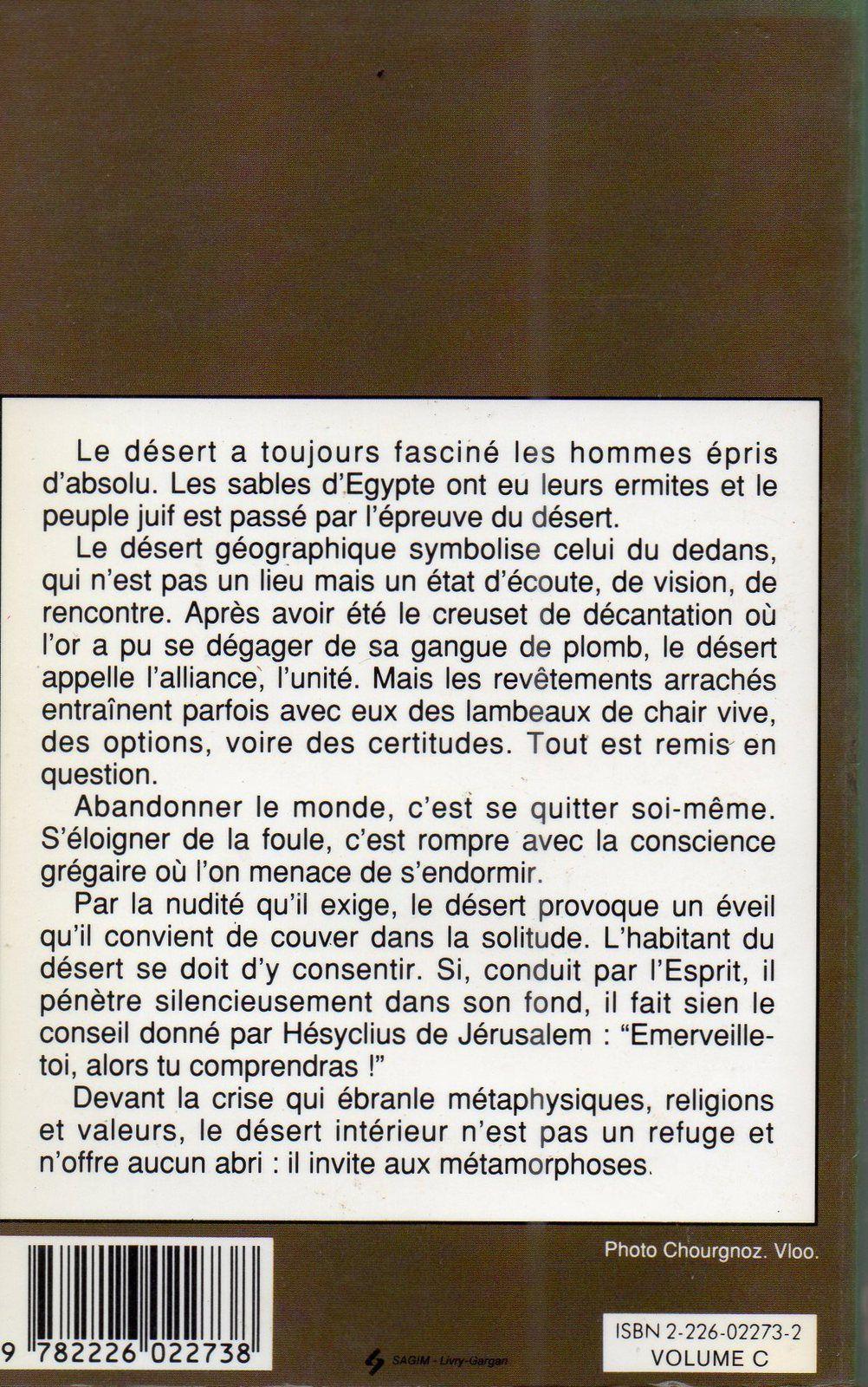 1 ) Madame Marie-Madeleine DAVY. 2 et 3 ) Le désert intérieur.