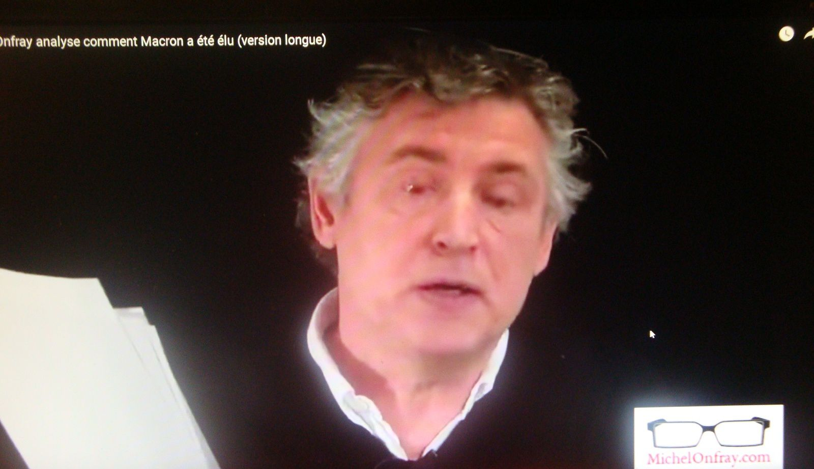 Une analyse ébouriffante, et décapante de l'élection présidentielle, par Michel Onfray. ( Video ).