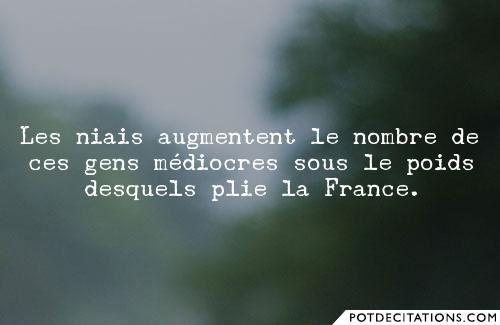 1 ) Alain Marsaud, un coup d'éclat salutaire. 2, 3, et 4 ) Cette niaiserie qui esquinte la France !