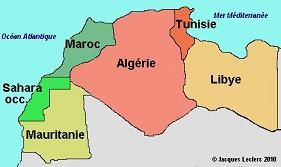 Pays du Maghreb.