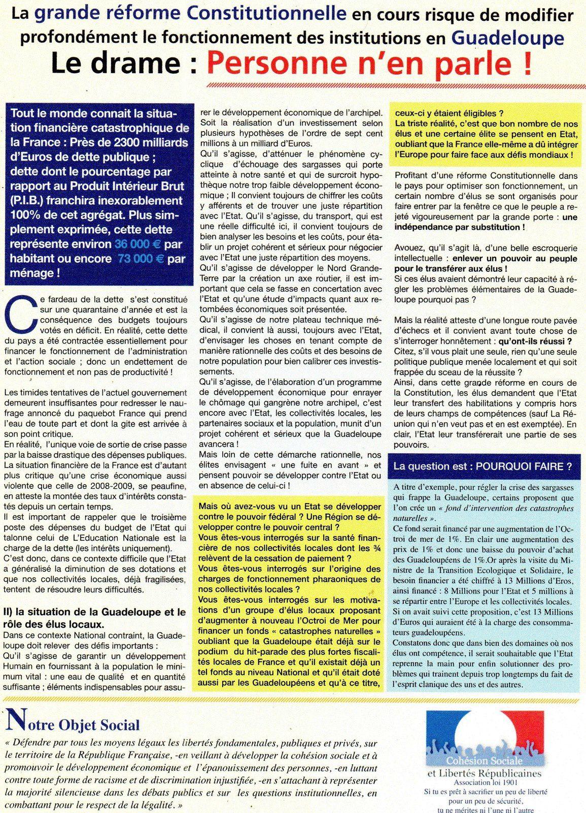 Les Enjeux de la réforme Constitutionnelle: Conférence débat sur le thème: Les Enjeux de la réforme Constitutionnelle.