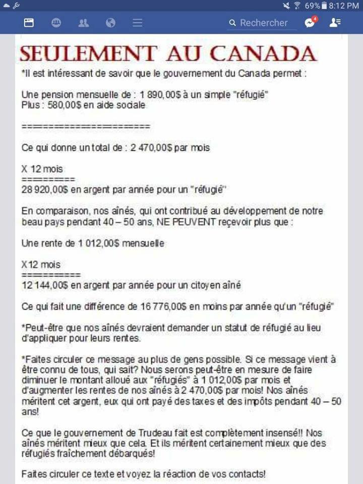 1 ) Deux serveurs de Gloubi-Goulba. 2 ) Le Canada de trudeau ou la cabanne aux immigrants.