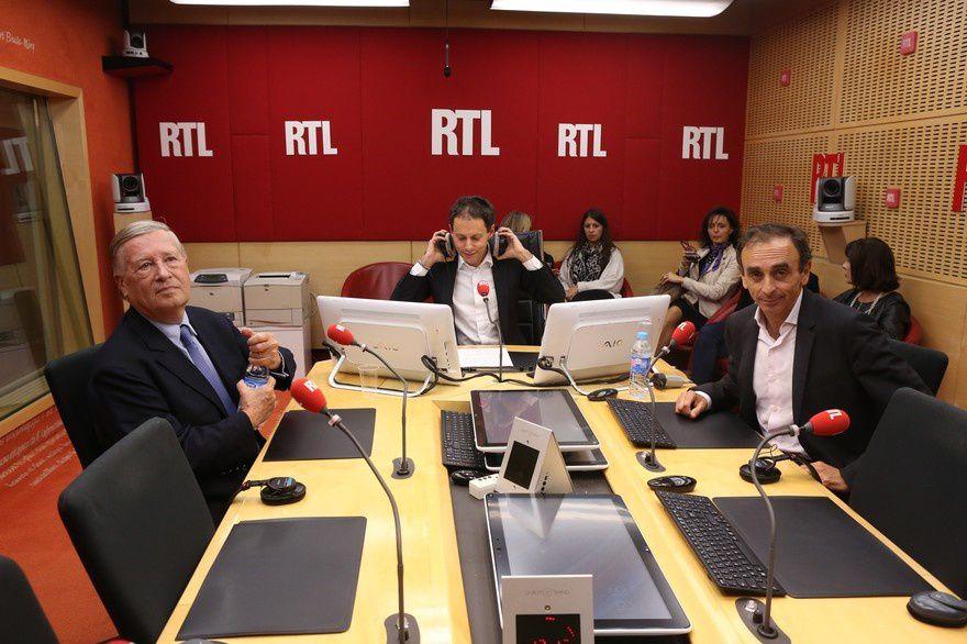 Sur RTL, une confrontation calme entre Eric Zemmour et Alain Duhamel à propos du «grand débat».