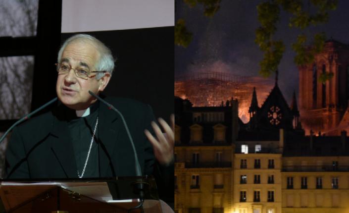 Mgr Riocreux qui fut aussi recteur le la cathédrale ND de Paris.