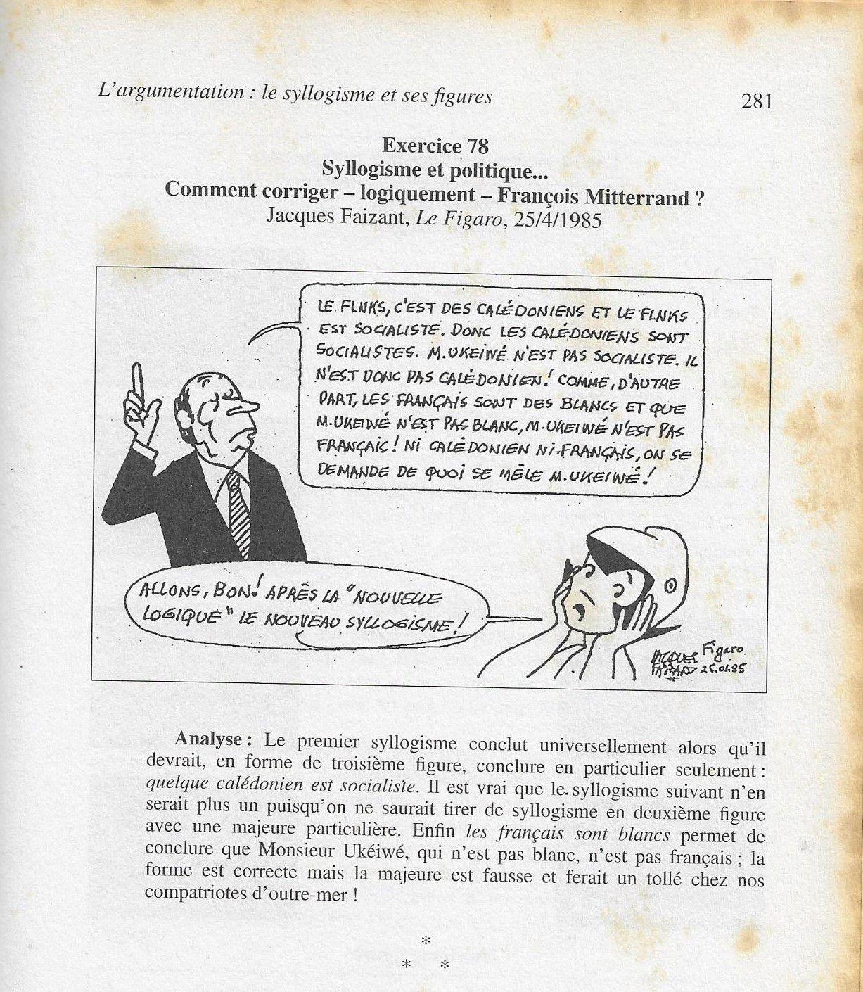 François Mitterrand et la sophistique, par Faizant.
