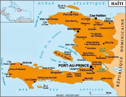 1) Papa doc en père mafieux. 2) le roi Christophe, créateur du Palais sans soucis (sauf pour le peuple). 3) Le palais sans soucis. 4) la carte d'Haïti.