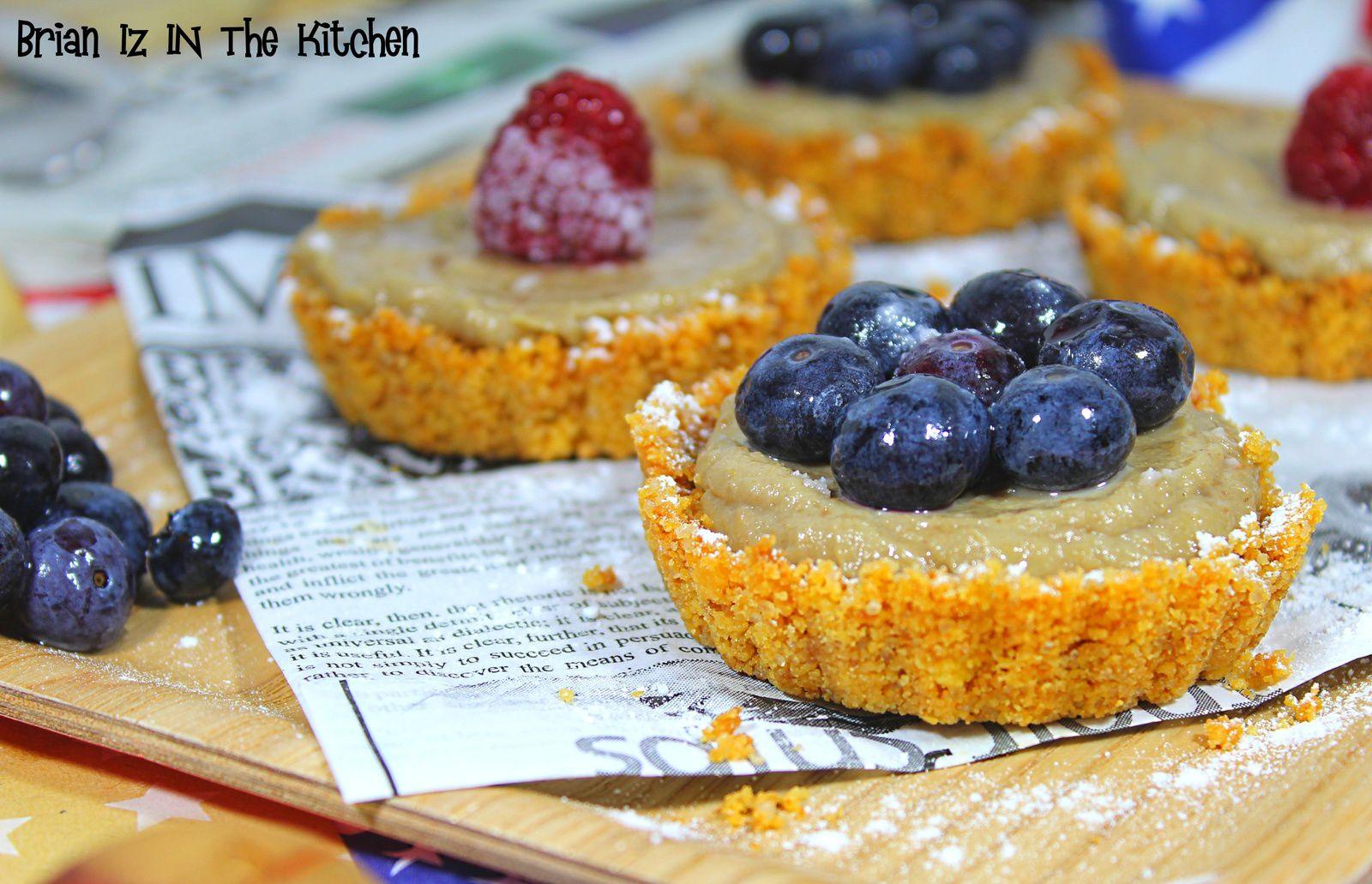 {BatailleFood#27} Avocado Pie (Tartelette à l'Avocat) & Framboise / Myrtille