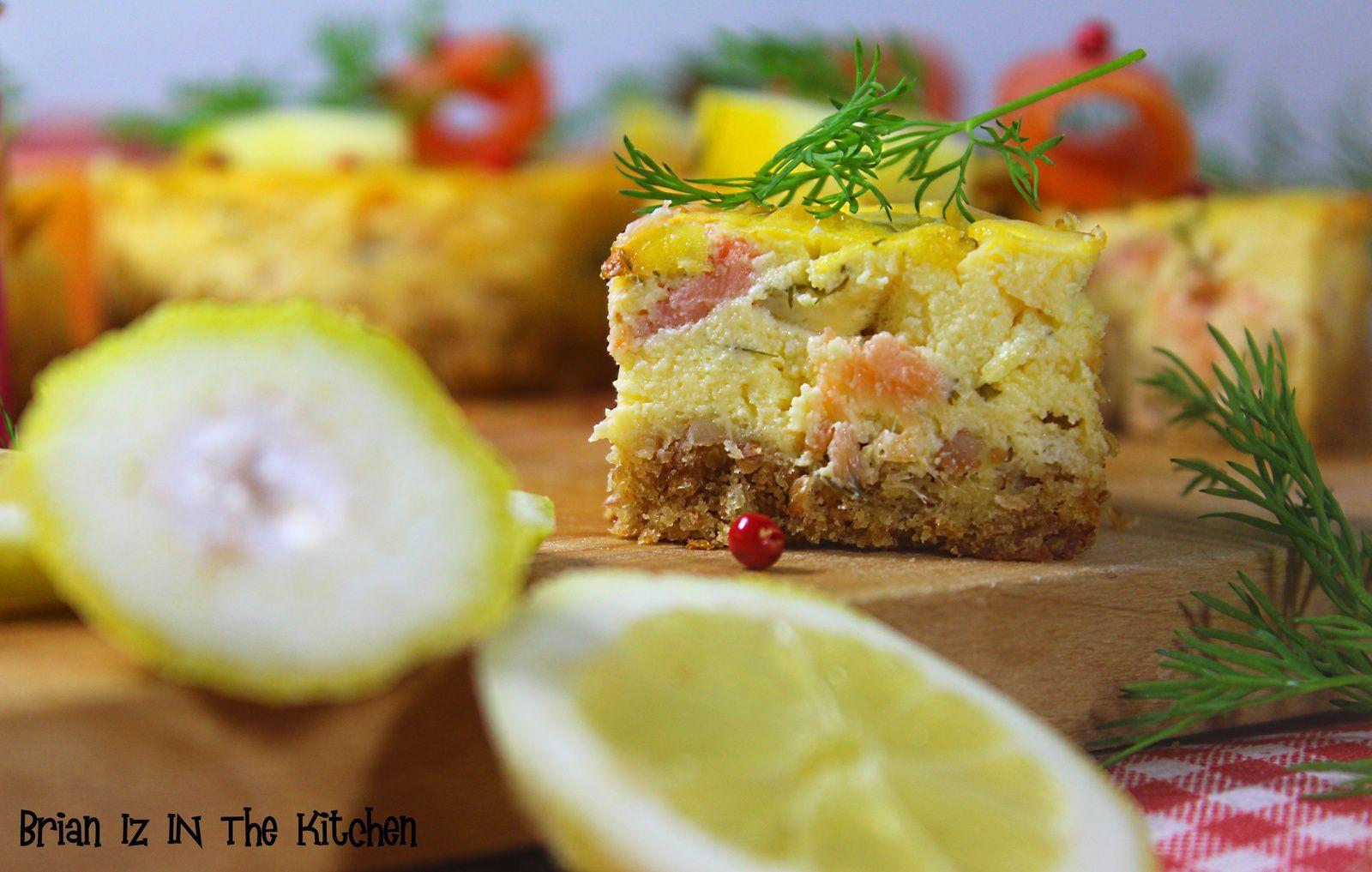 Cheesecake Saumon, Agrumes & Aneth