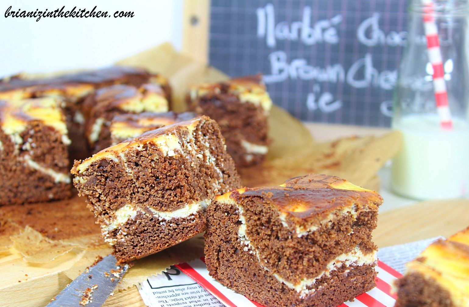 Brownie Marbré comme un Cheesecake