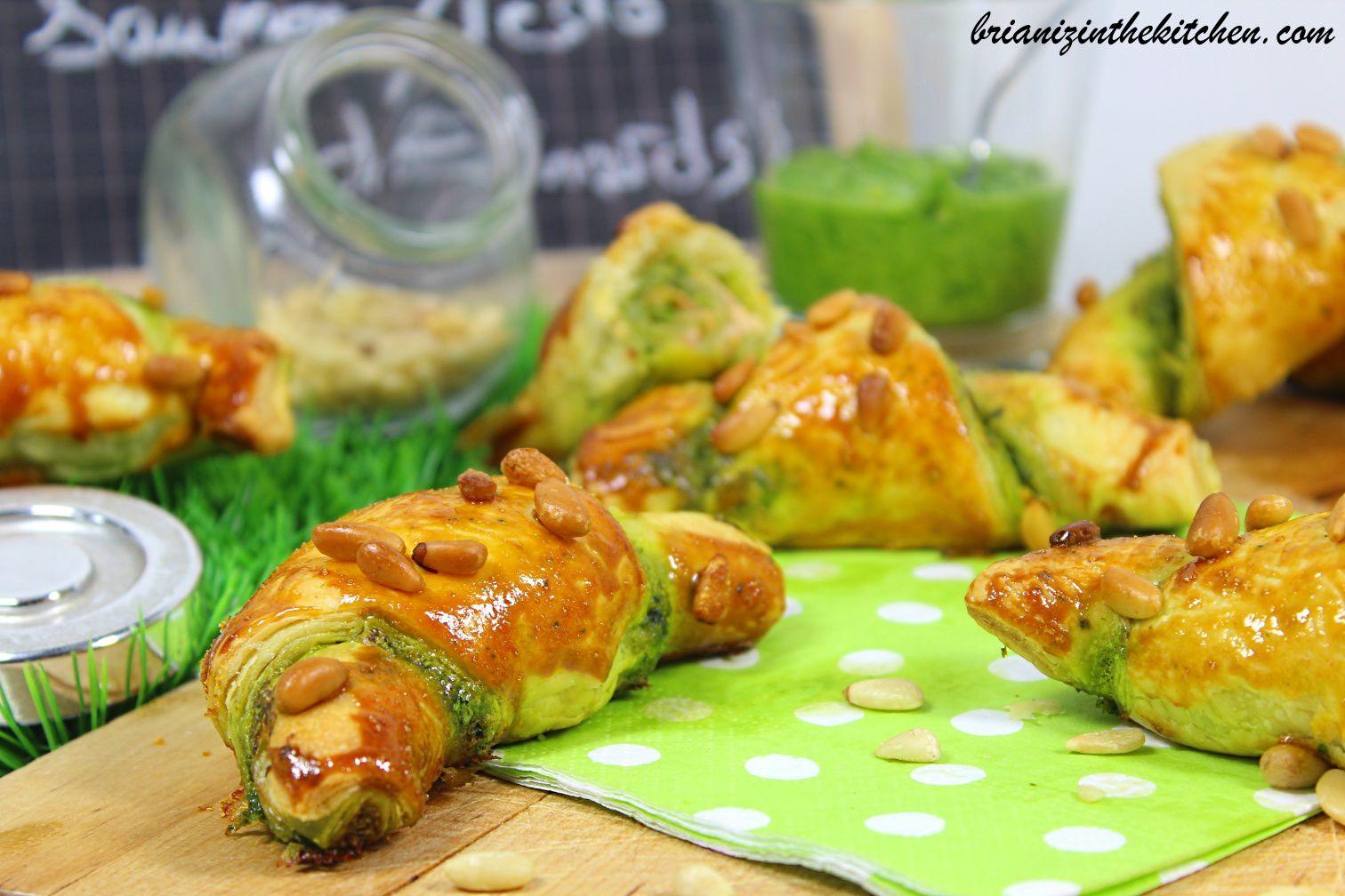 Croissants Apéro Saumon & Pesto d'Epinards
