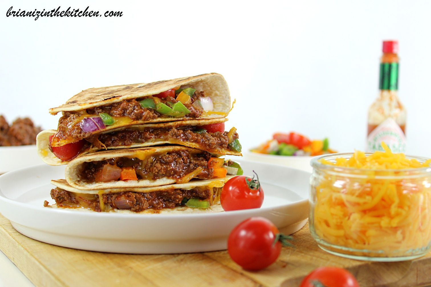 Quesadillas au Boeuf {Sauce Chili}