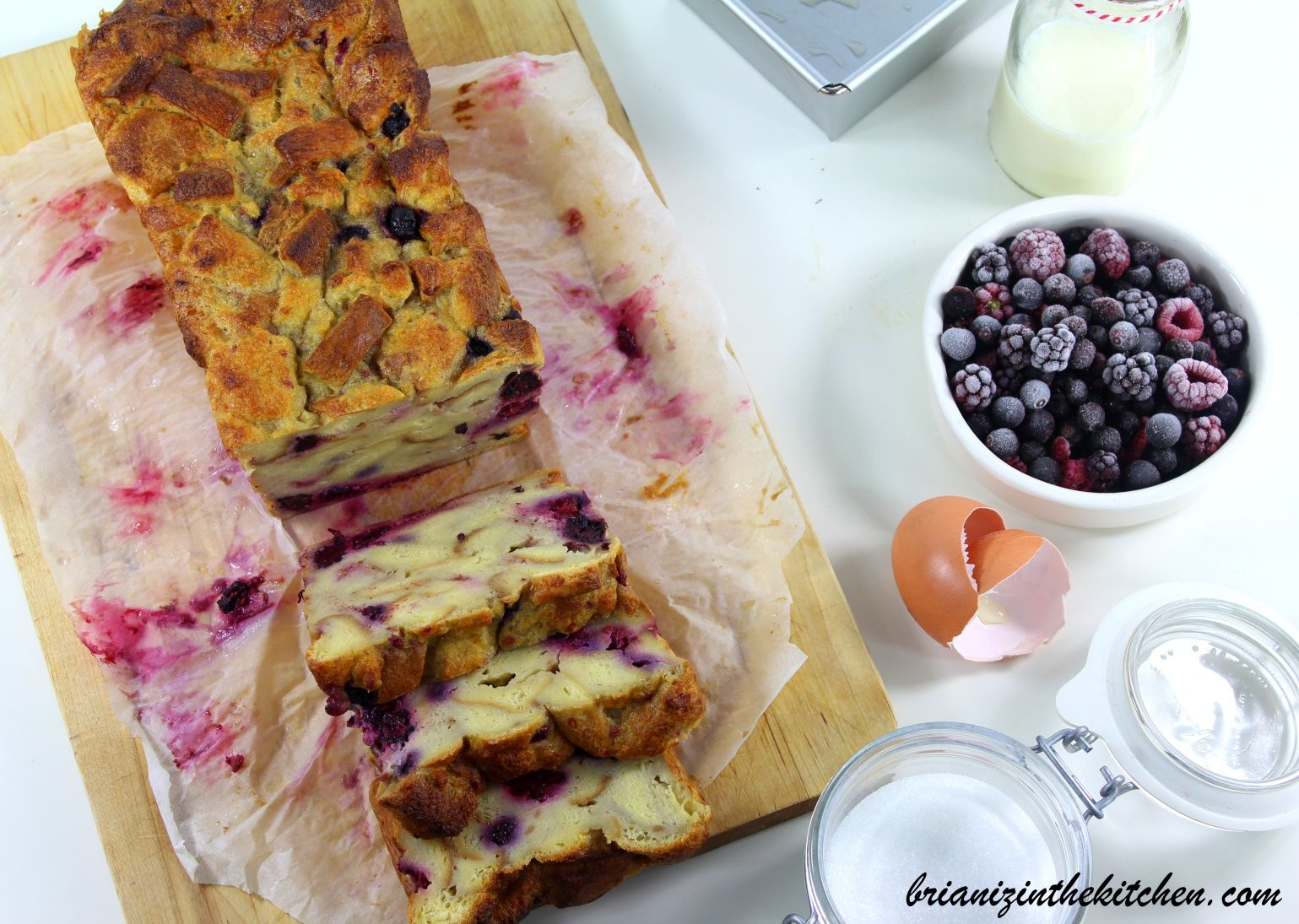 Pudding Diplomate aux Fruits Rouges {Anti-Gaspi}
