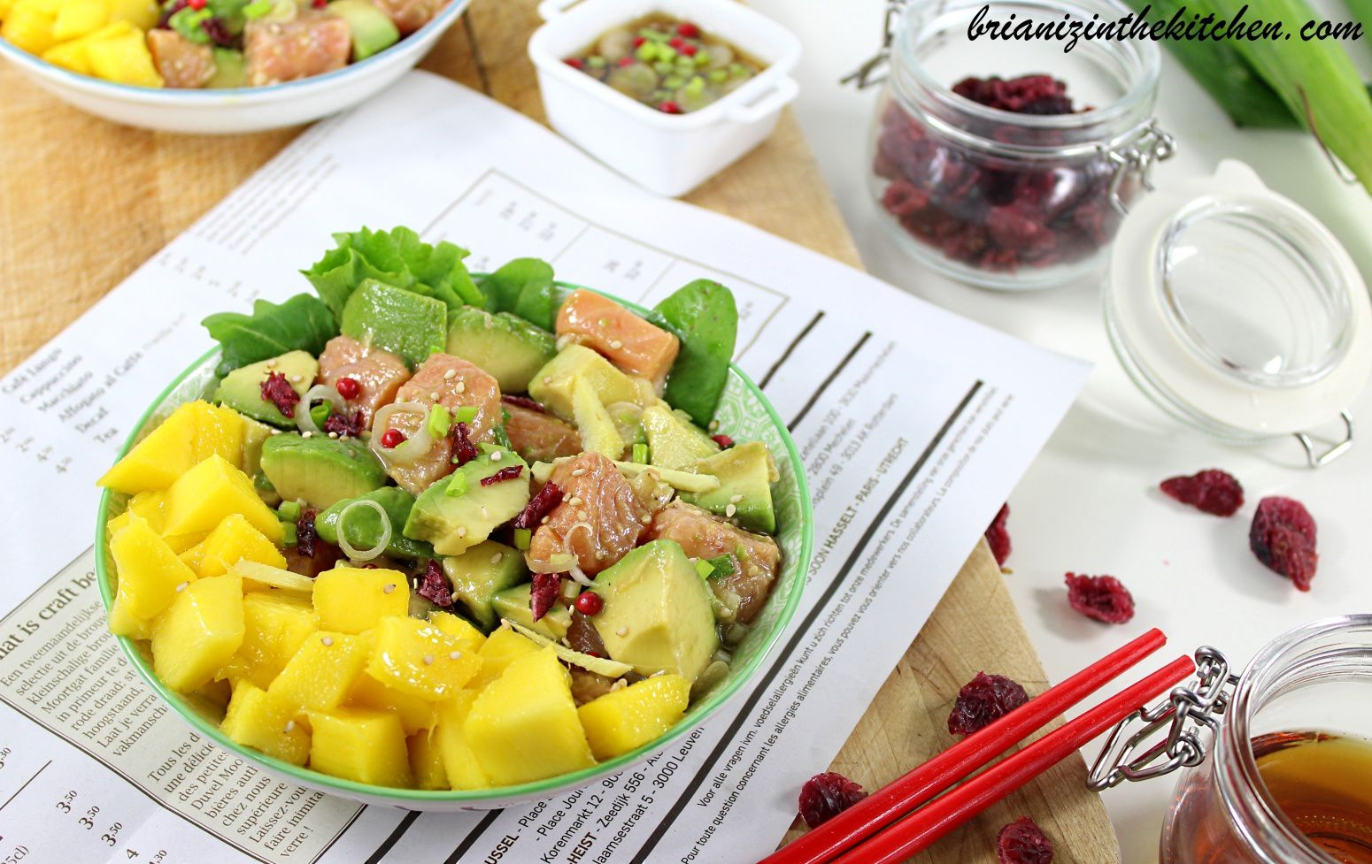 Poke Bowl Saumon, Avocat et Mangue {Bataille Food #39}