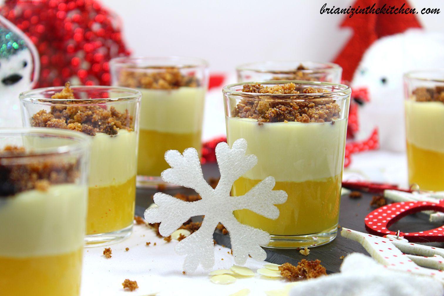 Verrine Crumble au Chocolat Blanc, Mangue & Citron Vert
