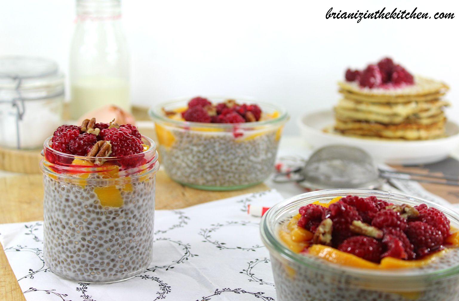 Pudding de Chia Amande, Banane et Myrtilles