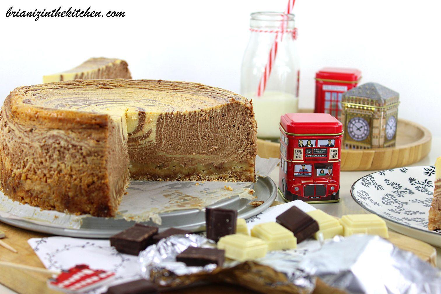 Zebra Cheesecake aux Deux Chocolats