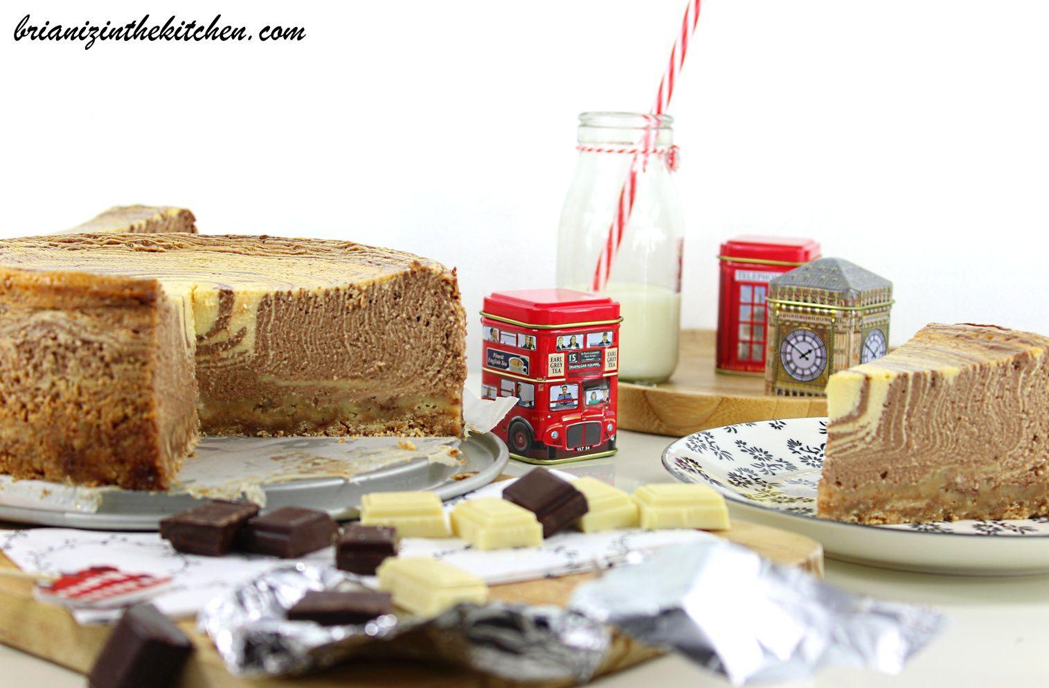 Zebra cheesecake aux deux chocolats brian iz in the kitchen - Cheesecake philadelphia fromage blanc ...