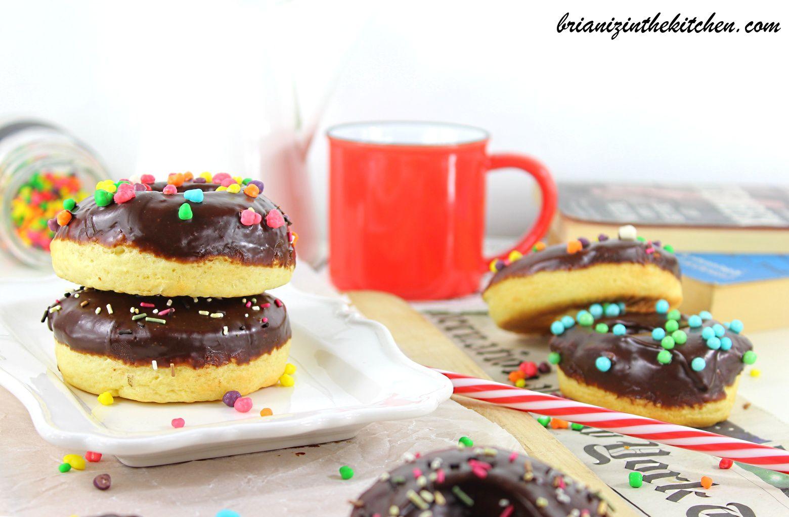 Donuts au Four - Parfum Vanille & Glaçage au Chocolat