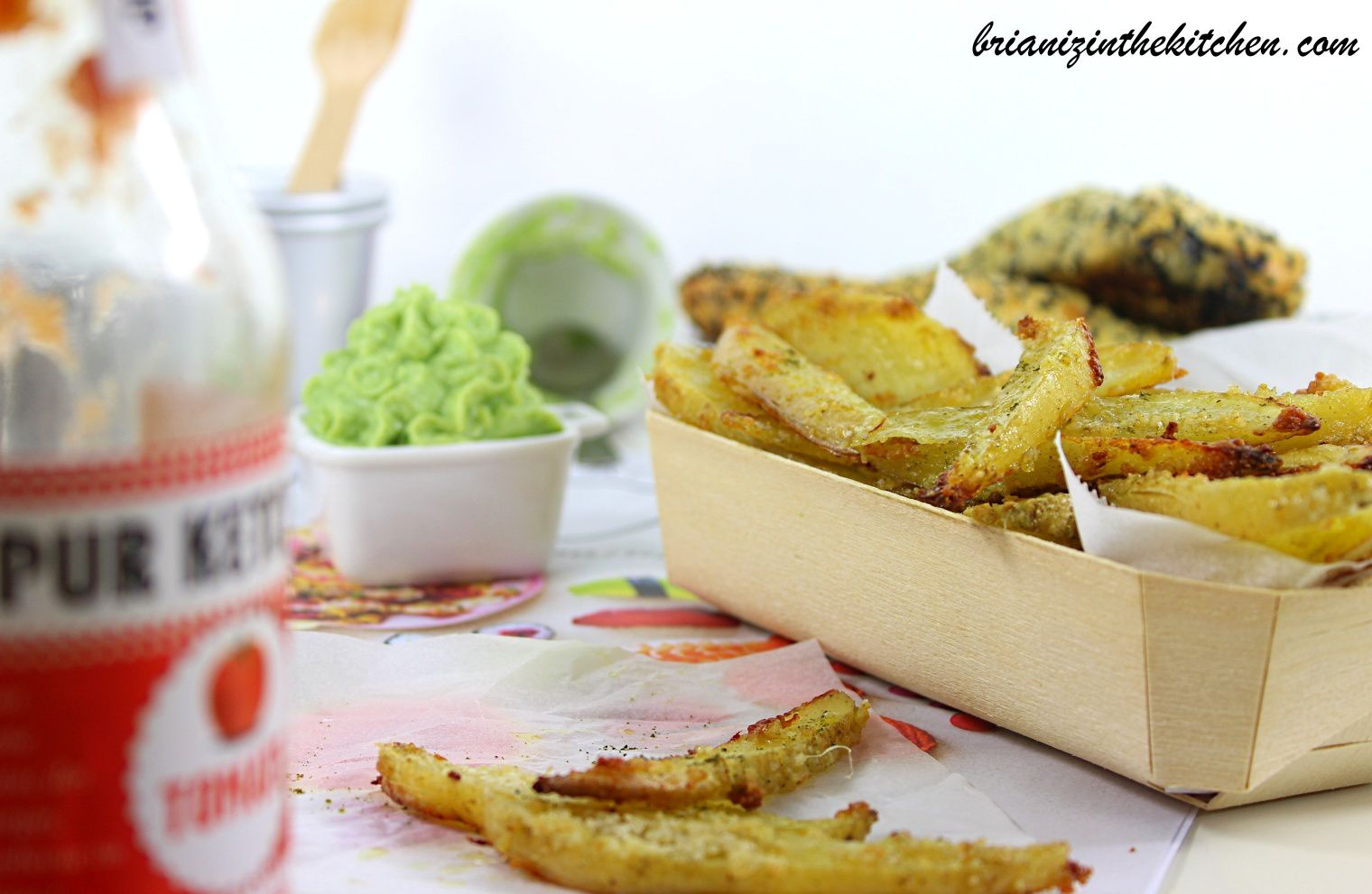 Frites au four ail parmesan persil light express brian iz in the kitchen - Quand repiquer le persil ...