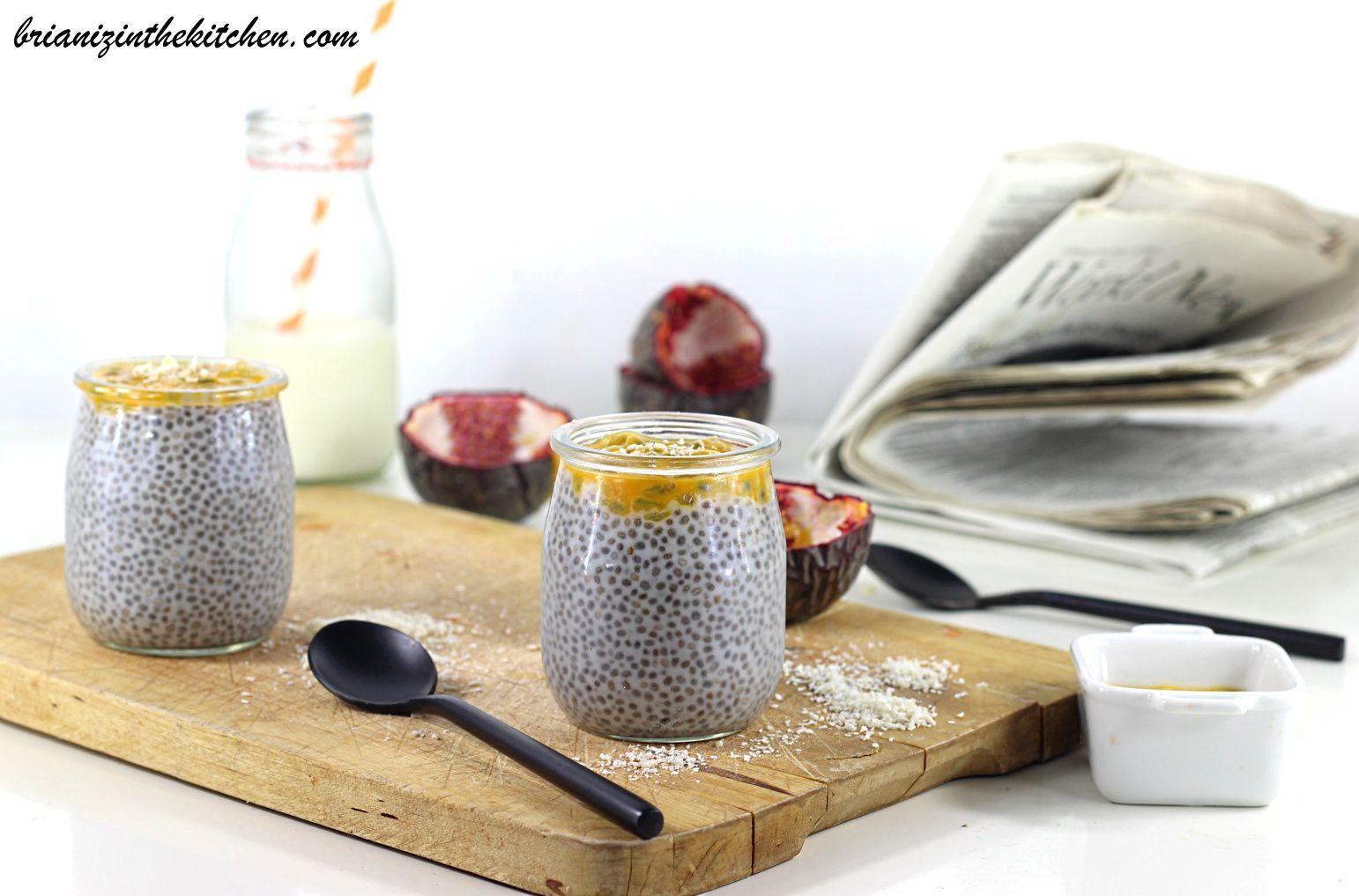 Chia Pudding Exotique {Noix de Coco & Fruit de la Passion}