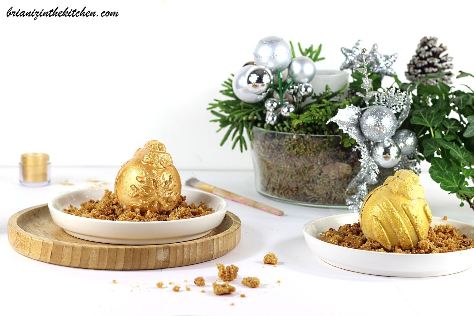 Boules Mousse de Banane, Coeur Caramel au Beurre Salé