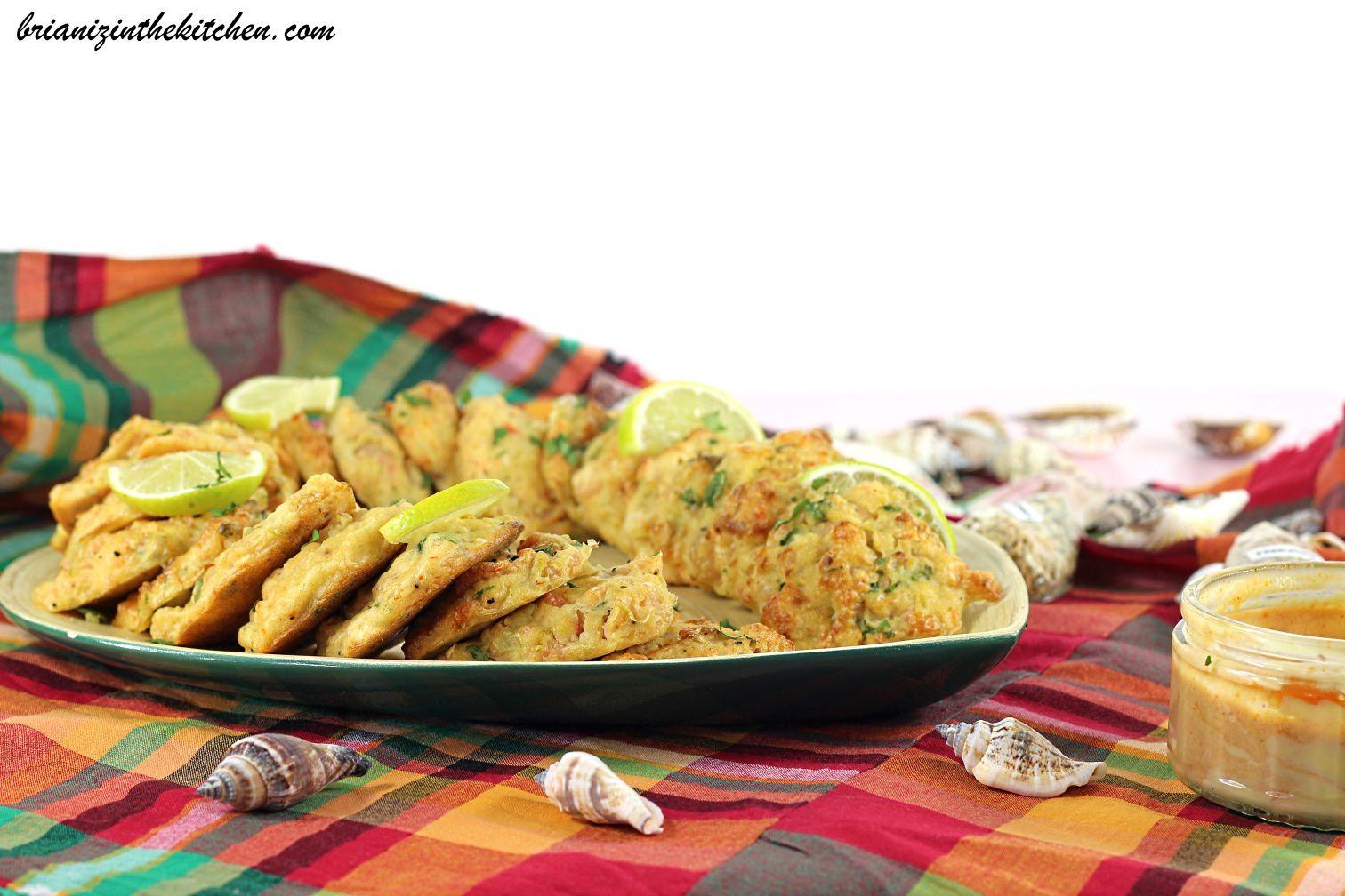 Acras de Crevettes, Citron Vert & Coriandre {Cuisson au Four} et Sauce Cocktail