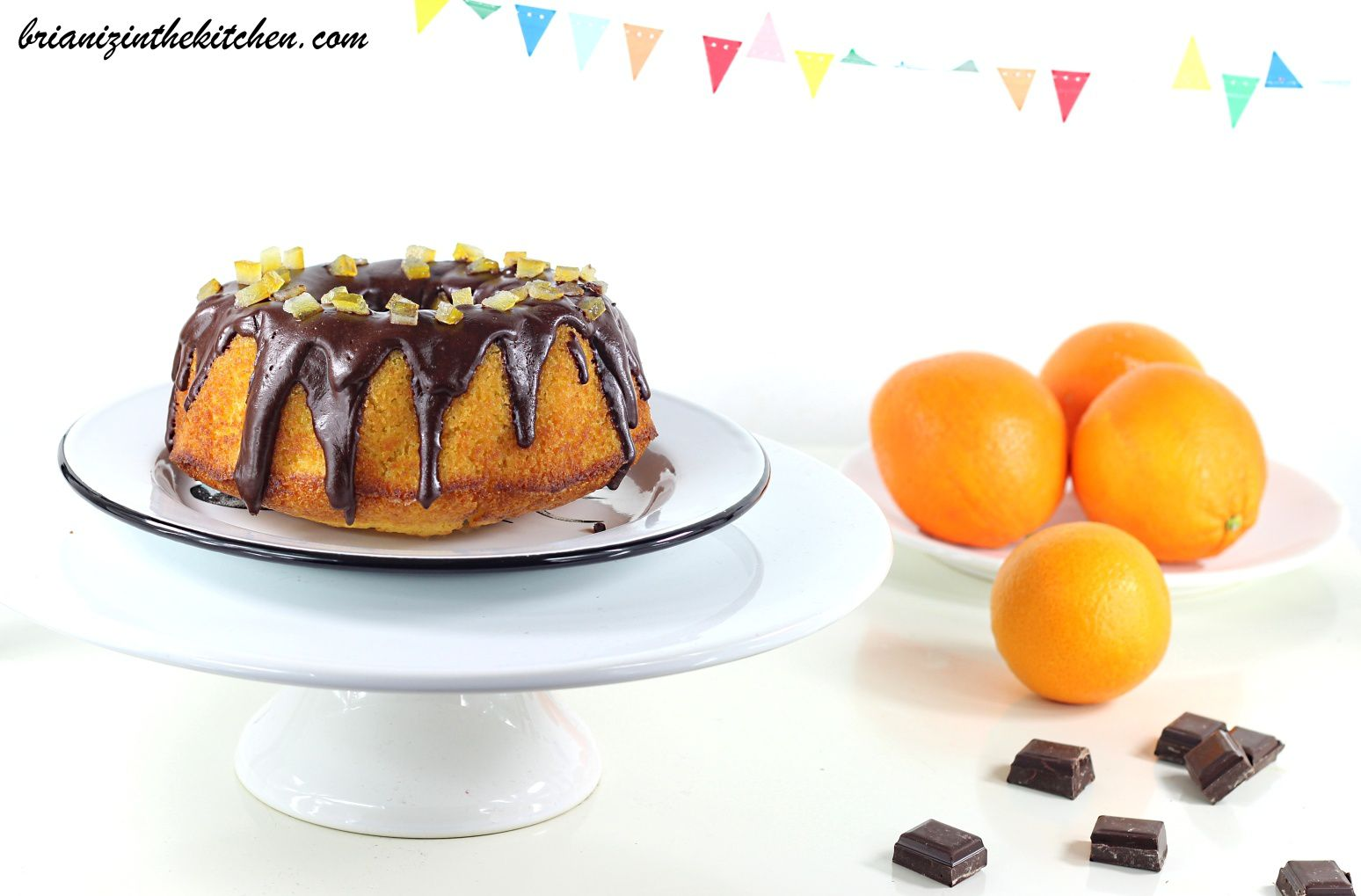 Moelleux à l'Orange & Nappage au Chocolat