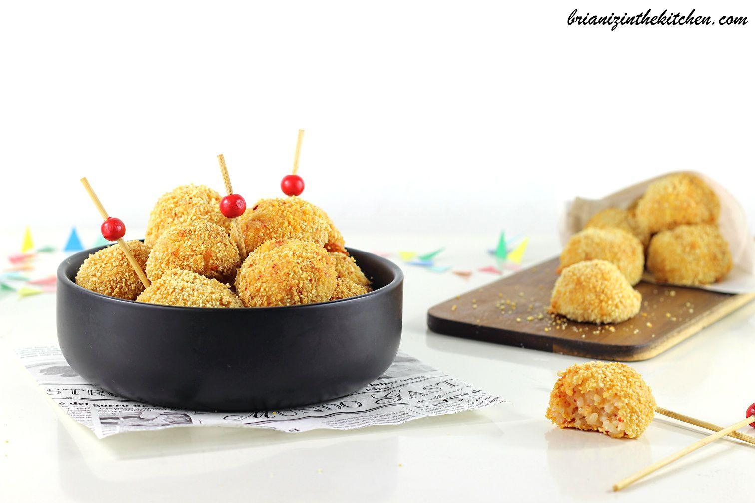 Croquettes de Riz, Mozzarella & Chorizo {Cuisson au Four}