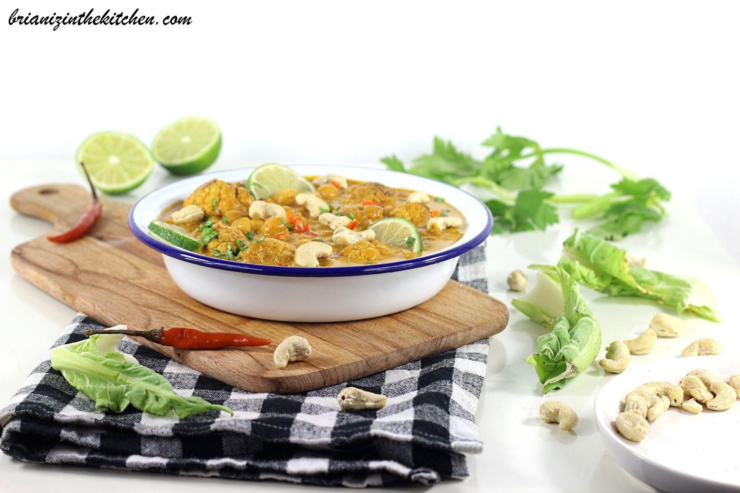 Curry de Chou-Fleur Rôti & Pois Chiches {Recette Végétarienne}
