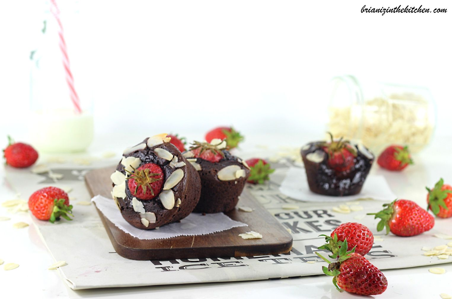 Brownies Individuels Choco-Fraise