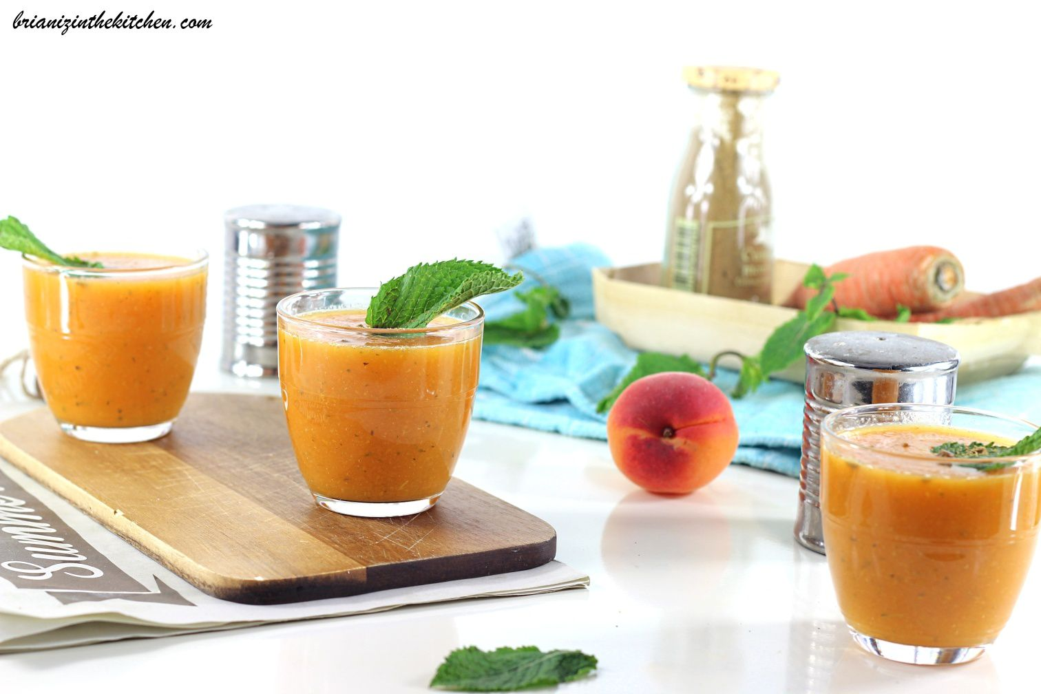 soupe froide carottes et abricots cumin menthe brian iz in the kitchen. Black Bedroom Furniture Sets. Home Design Ideas