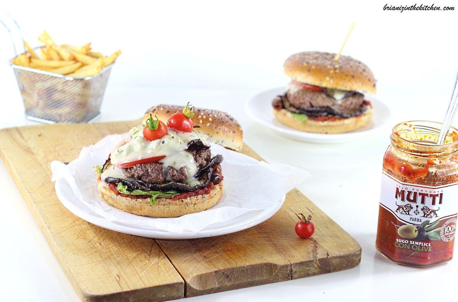 Burger Aubergines Rôties et Gorgonzola